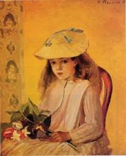 "Копия картины ""Portrait of Jeanne"" художника ""Писсарро Камиль"""