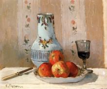 "Копия картины ""still life with apples and pitcher"" художника ""писсарро камиль"""