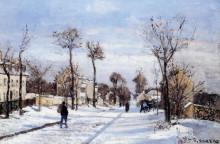 "Репродукция картины ""street in the snow, louveciennes"" художника ""писсарро камиль"""