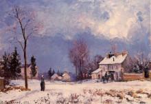 """Картина """"the road from versalles to saint germain at louveciennes"""" художника """"писсарро камиль"""""""