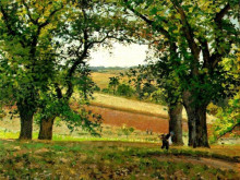 """Картина """"chestnut trees at osny"""" художника """"писсарро камиль"""""""