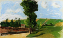 "Картина ""Landscape at Pontoise 2"" художника ""Писсарро Камиль"""