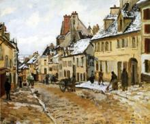 """Картина """"Pontoise, the Road to Gisors in Winter"""" художника """"Писсарро Камиль"""""""