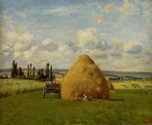 """Репродукция картины """"the haystack, pontoise"""" художника """"писсарро камиль"""""""