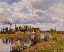 "Копия картины ""The River Oise near Pontoise"" художника ""Писсарро Камиль"""