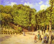 """Картина """"town garden in pontoise"""" художника """"писсарро камиль"""""""