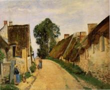 """Картина """"village street, auvers-sur-oise"""" художника """"писсарро камиль"""""""