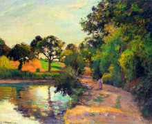 "Картина ""bridge at montfoucault"" художника ""писсарро камиль"""
