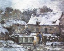 """Копия картины """"farm at montfoucault 2"""" художника """"писсарро камиль"""""""