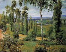 """Репродукция картины """"The Countryside in the Vicinity of Conflans Saint Honorine"""" художника """"Писсарро Камиль"""""""