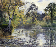 """Картина """"the pond at montfoucault"""" художника """"писсарро камиль"""""""