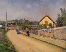 """Картина """"The Railroad Crossing at Les Patis"""" художника """"Писсарро Камиль"""""""
