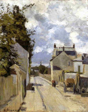 "Картина ""the street of hermitage, pontoise"" художника ""писсарро камиль"""