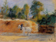 "Картина ""study for 'la batterie a montfoucault'"" художника ""писсарро камиль"""