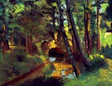 """Картина """"The Little Bridge, Pontoise"""" художника """"Писсарро Камиль"""""""