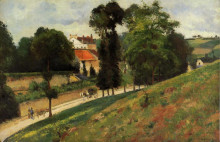 "Репродукция картины ""the saint antoine road at l'hermitage, pontoise"" художника ""писсарро камиль"""