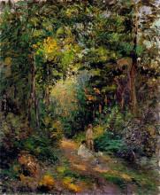 "Репродукция картины ""Autumn, Path through the Woods"" художника ""Писсарро Камиль"""