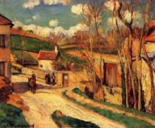 """Картина """"crossroads at l'hermitage, pontoise"""" художника """"писсарро камиль"""""""