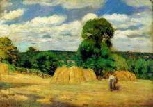 "Картина ""the harvest at montfoucault"" художника ""писсарро камиль"""