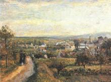 """Копия картины """"view of saint ouen l'aumone"""" художника """"писсарро камиль"""""""