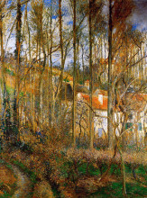 "Копия картины ""the cote des boeurs at l'hermitage, near pontoise"" художника ""писсарро камиль"""