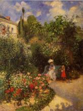 """Репродукция картины """"the garden at pontoise"""" художника """"писсарро камиль"""""""