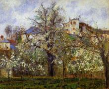 "Репродукция картины ""The Vegetable Garden with Trees in Blossom, Spring, Pontoise"" художника ""Писсарро Камиль"""