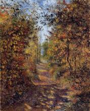 """Репродукция картины """"A Path in the Woods, Pontoise"""" художника """"Писсарро Камиль"""""""