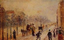 """Репродукция картины """"Boulevard des Batignolles"""" художника """"Писсарро Камиль"""""""