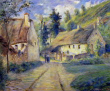 "Картина ""cottages at auvers, near pontoise"" художника ""писсарро камиль"""