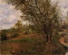 "Копия картины ""Pontoise Landscape, Through the Fields"" художника ""Писсарро Камиль"""