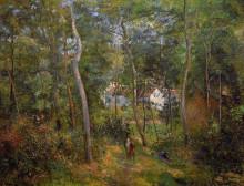 """Репродукция картины """"the backwoods of l'hermitage, pontoise"""" художника """"писсарро камиль"""""""