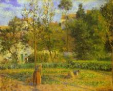 """Картина """"Vegetable Garden at Hermitage near Pontoise"""" художника """"Писсарро Камиль"""""""