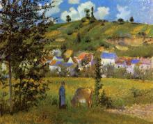 """Картина """"Landscape at Chaponval"""" художника """"Писсарро Камиль"""""""