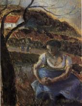 """Копия картины """"seated peasant woman"""" художника """"писсарро камиль"""""""