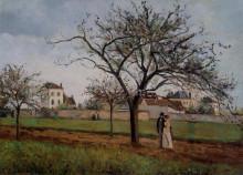 """Копия картины """"Pere Gallien's House at Pontoise"""" художника """"Писсарро Камиль"""""""