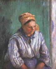 """Картина """"Washerwoman Study (also known as La Mere Larcheveque)"""" художника """"Писсарро Камиль"""""""