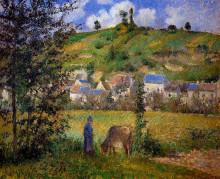 """Картина """"Chaponval Landscape"""" художника """"Писсарро Камиль"""""""