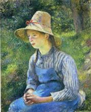 """Картина """"Young Peasant Girl Wearing a Hat"""" художника """"Писсарро Камиль"""""""
