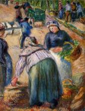 """Картина """"potato market, boulevard des fosses, pontoise"""" художника """"писсарро камиль"""""""