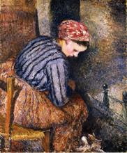 """Копия картины """"Peasant Woman Warming Herself"""" художника """"Писсарро Камиль"""""""