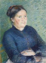 "Копия картины ""portrait of madame pissarro"" художника ""писсарро камиль"""