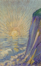 "Репродукция картины ""sunrise on the sea"" художника ""писсарро камиль"""