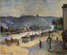 """Копия картины """"The Quays at Rouen"""" художника """"Писсарро Камиль"""""""