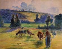 "Копия картины ""Study for 'Cowherd at Eragny'"" художника ""Писсарро Камиль"""