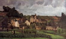 """Картина """"view of l'hermitage at pontoise"""" художника """"писсарро камиль"""""""