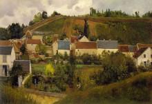 """Репродукция картины """"View of l'Hermitage, Jallais Hills, Pontoise"""" художника """"Писсарро Камиль"""""""