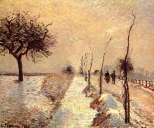 "Картина ""road at eragny, winter"" художника ""писсарро камиль"""
