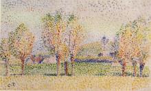 """Репродукция картины """"Eragny Landscape"""" художника """"Писсарро Камиль"""""""