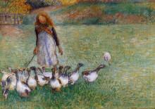 """Картина """"little goose girl"""" художника """"писсарро камиль"""""""